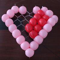 Chiaro supporto per palloncino a forma di cuore con telaio a rete modello TW