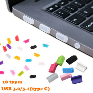 5pcs Protective USB Ports Anti-Dust Plug Cover Stopper for Laptop & PC Phone