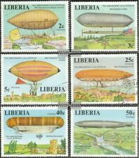 Liberia 1054A-1059A (complete issue) fine used / cancelled 1978 Zeppelin-Airship