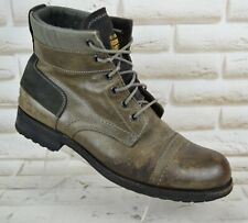 G-STAR RAW Mens Brown Leather Outdoor Ankle Biker Boots Shoes Size 9 UK 43 EU