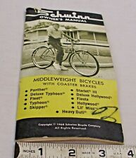 SCHWINN VINTAGE 1968 MIDDLE WEIGHT BICYCLE OWNER'S MANUAL