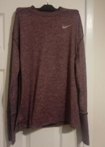 NIKE RUNNING - DRI - FIT - MENS TOP - PINK - SIZE SMALL - LONG SLEEVE