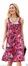Plus Size Floral Polyester Sundresses for Women