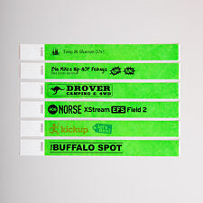 Custom Printed Premium Tyvek Paper Wristbands Event Party Festival Security SALE