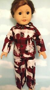 """18"""" Boy Doll Pajamas fits 18 inch American Girl Doll Clothes 451d"""