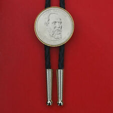 US 2011 Presidential Dollar BU Coin Bolo Tie - James A. Garfield ( 1881 )