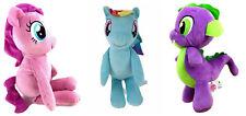 3 My Little Pony Plush Stuffed Animals Pinkie Pie Spike the Dragon Rainbow Dash