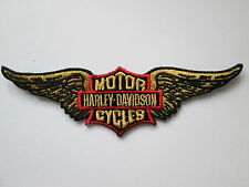 """HARLEY DAVIDSON GOLDEN WINGS VEST PATCH 5"""" x 1 1/2""""-DISCONTINUED PATCH"""