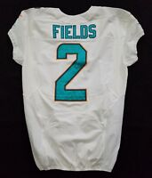 #2 Brandon Fields of Dolphins NFL Locker Room Game Issued Jersey w 50th Patch