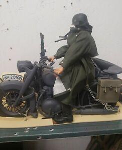 1:6 WWII German  21st century motorcycle. Mint !