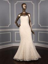 BRAND NEW Romona Keveza RK5407 Strapless Mermaid Lace Wedding Dress 10 $6895