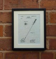 "USA Patent Drawing Vintage GOLF CLUB Mounted Matted PRINT art 10"" x 8"" 1903 Gift"