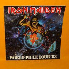 IRON MAIDEN WORLD PIECE TOUR '83 1983 CONCERT PROGRAMME PROGRAM