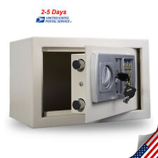 Electronic Safety Box Security Home Office Digital Lock Jewelry Safe Money White