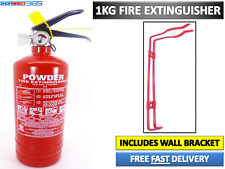 1KG POWDER ABC FIRE EXTINGUISHER HOUSE CAR BOAT OFFICE TAXI + WALL BRACKET