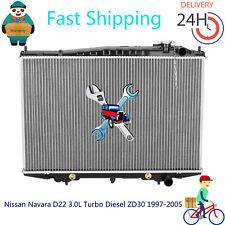 Radiator For Nissan Navara D22 3.0L Turbo Diesel ZD30 1997-2005 Auto/Manual