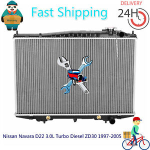 Radiator For Nissan Navara D22 3.0L Turbo Diesel ZD30 1997-2005 Auto/Manual