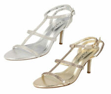 Stiletto Patternless Strappy Sandals & Beach Shoes for Women