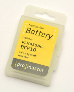 PROMASTER #6038 Lithium ion Li-on replacement battery for Panasonic BCF10