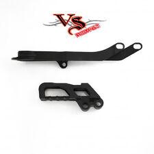 Polisport Guía De Cadena & Kit de deslizador Honda CR125 CR250 02-04, CRF450R 02-04 Negro