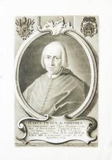 c1760 Conti Pietro Paolo Kardinal Theologe Schabkunst-Porträt Negges