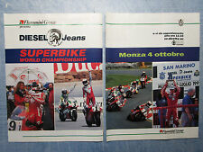 MOTOSPRINT992-PUBBLICITA'/ADVERTISING-1992-SUPERBIKE WORLD CHAMP-MONZA(2 fogli)