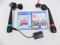 Like New Playstation 4 Ps4 Sing Star 2x Microphones + 2x Singstar Games