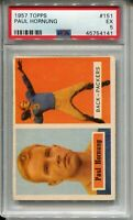 1957 Topps Football #151 Paul Hornung Rookie Card RC Graded PSA EX 5 Packers