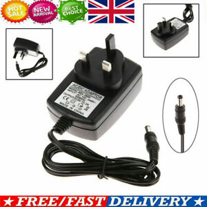 UK Plug DC 9V 2A AC Power Supply Transformer Adapter Converter Wall Charger