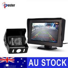"4.3"" Monitor+24v/12v CCD LED Reversing Camera Car Caravan Truck Night Vision KIT"