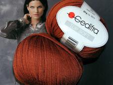 600 g TOP SOFT Gedifra Seide WOLLE Schachenmayr Kupfer Rot Braun Rotbraun Silk