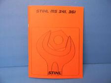 STIHL CHAINSAW MS341 MS361 REPAIR SERVICE MANUAL --------------------- MANUAL83