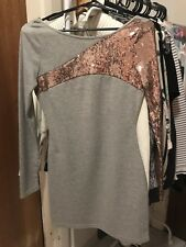 Kardashian Kollection - Sequin Dress Grey - Size Small