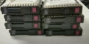 """HP 653950 146GB 15K 2.5"""" SAS Hard Disk Drives G8 G9 6G with NO CADDIES- Lot of 4"""