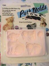 CATS~AMACO polymer clay~plastic~FIMO mold~Judi Maddigan RARE* OOP *NIP