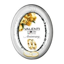 Picture Frame Oval 50th Anniversary by Valenti Argenti cm 13x18