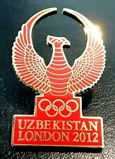 RARE NOC TEAM UZBEKISTAN OLYMPIC PIN LONDON 2012 NO 2020 TOKYO... MEDIA