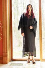 BLACK MOHAIR DRESS with MOHAIR SCARF