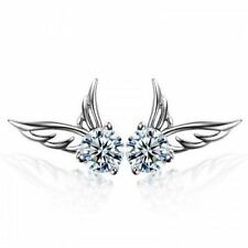 Cute Angel Wing Earrings 925 Sterling Silver Crystal Butterfly Studs Ear Stud UK
