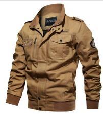 Mens MA-1 Flight Jacket Stylish Military Cargo Jacket Pilot Coats Bomber Jackets