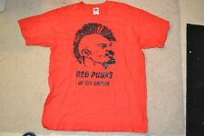Vintage Red Punks Of The Empire Mens Large Communist Rock T Shirt Red Fruit Loom