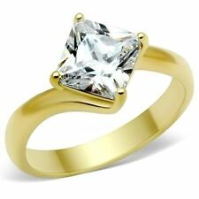 Cubic Zirconia Solitaire Simulated Fashion Rings