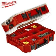 MILWAUKEE 48228030 10 COMPARTMENT JOBSITE ORGANISER BOX STORAGE TOOL WORK CASE