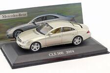 Mercedes-Benz CLS 500 C219 Baujahr 2004 beige metallic 1:43 Altaya
