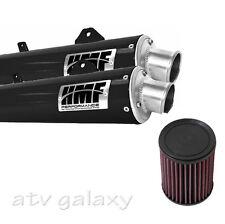 HMF Can Am BRP Renegade 800 12 13 14 Black Dual Full Exhaust & K&N Air Filter