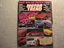 Motor Trend 1989 October Beretta GTZ Buick Reatta Ford Probe Oldsmobile Pontiac