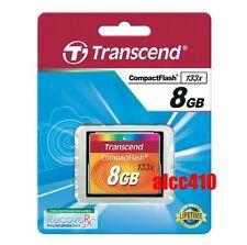 Transcend 8GB CF 133x Compact Flash  Memory Card 8 GB G TS8GCF133 in Sydney