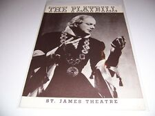 1937 ST JAMES THEATRE PLAYBILL - KING RICHARD II - MAURICE EVANS LEE BAKER