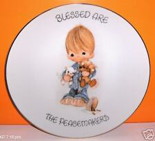 """PRECIOUS MOMENTS - """"BLESESED ARE THE PEACEMAKERS"""" PLATE"""