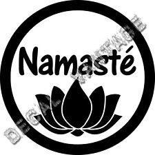 Lotus Namaste Circle Vinyl Sticker Decal Aum Om Yoga - Choose Size & Color